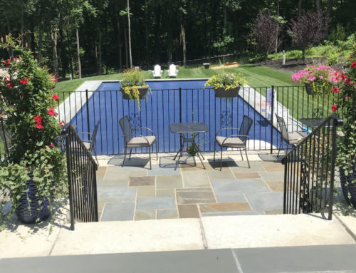 Chappaqua New Pool on Slope